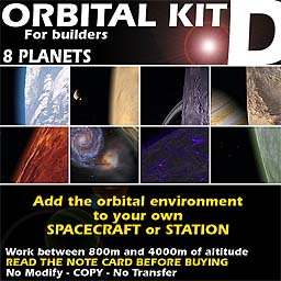 Orbital kit D: space environment generator - 8 Planets.