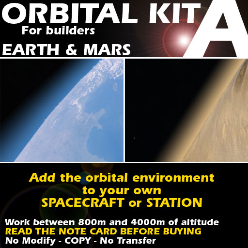 Orbital kit A: space environment generator - Earth and Mars.