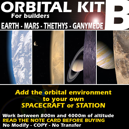 Orbital kit B: space environment generator - Earth, Mars, Ganymede & Thethys.