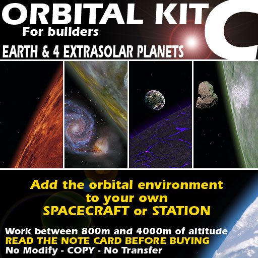 Orbital kit C: space environment generator - Earth & 4 extrasolar planets.
