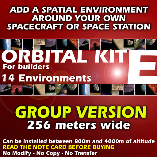 Orbital kit E: space environment generator - 14 planets, for groups